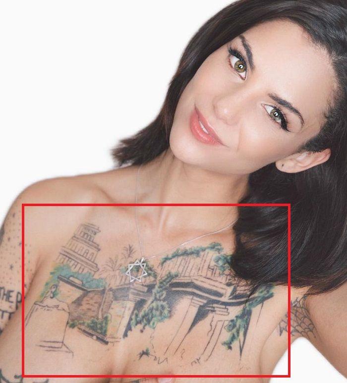 Bonnie Rotten-Chest-Tattoo