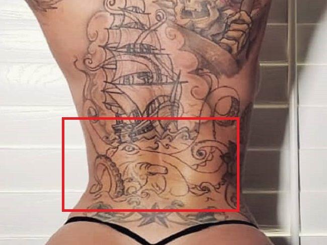 Christy Mack-Back-Tattoo
