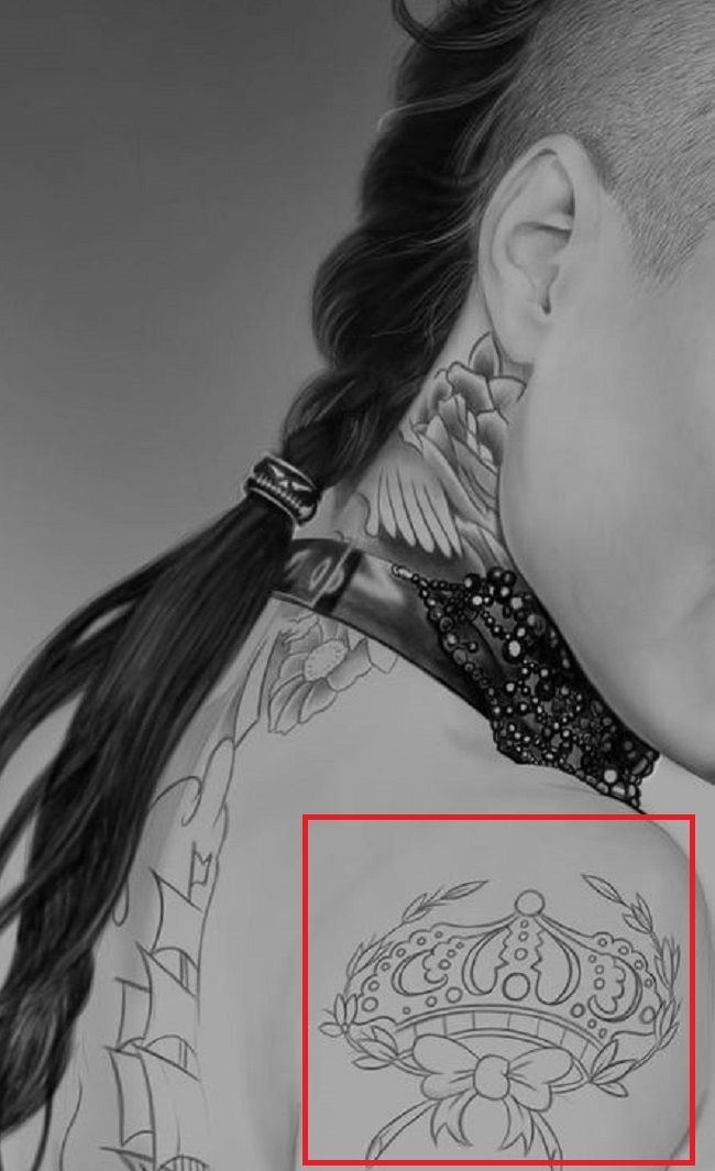 Christy Mack-Crown-Tattoo