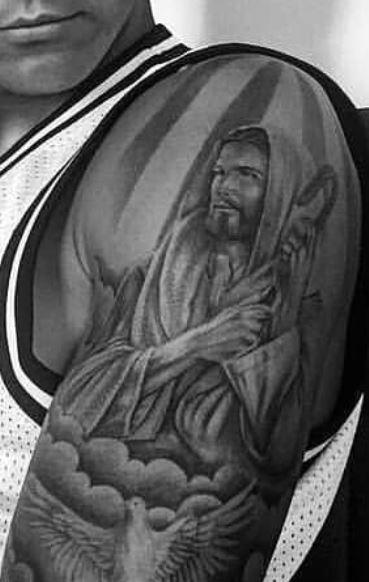 Davie Jesus Christ Tattoo
