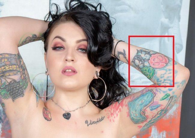Draven Star-Forearm-Tattoo-Arm