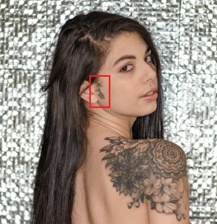 Ear Gina Valentina Tattoo