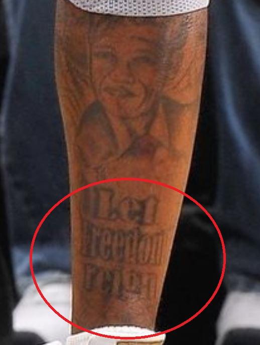 Gilbert left leg tattoo
