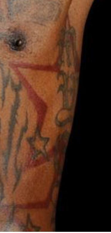Gilbert tattoo on left body