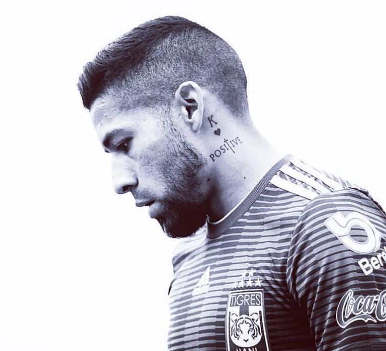 Javier neck tattoo