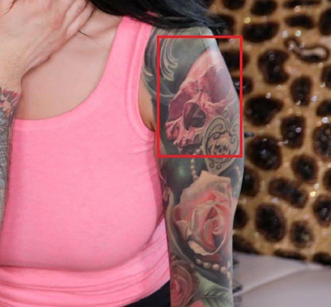 Katrina Jade-Skull-Tattoo