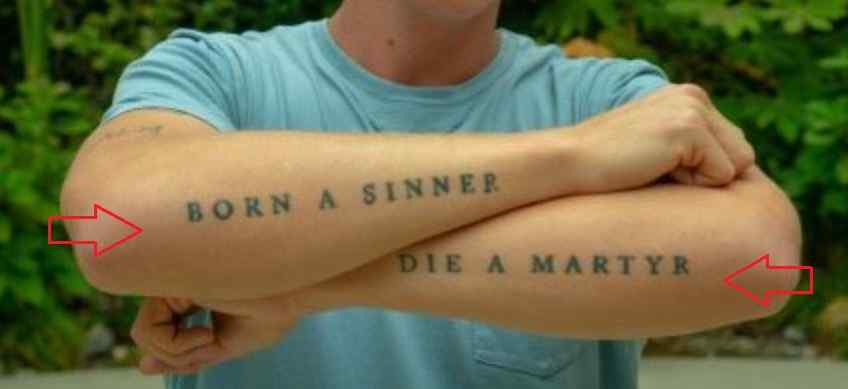 Matt Maeson quote tattoo