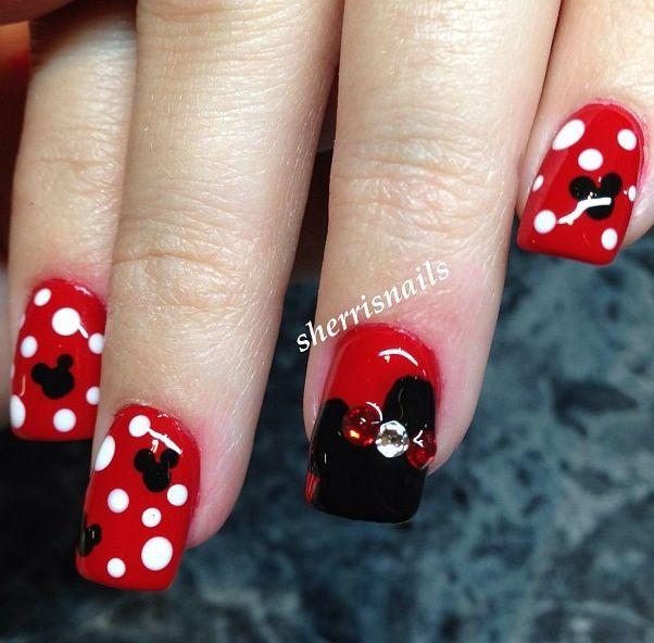 Minne Mouse Nail Art
