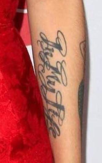 Mon Laferte life tattoo