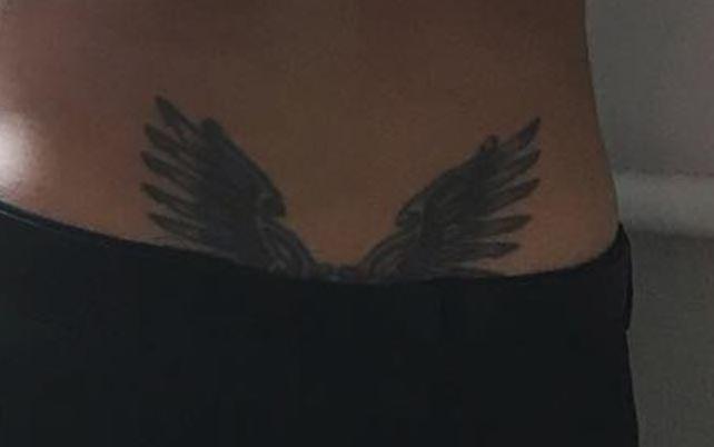 Mon Laferte wings tattoo