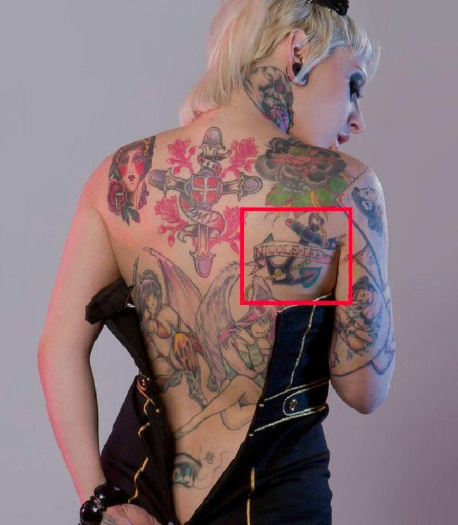 back tattoo of jessie lee back
