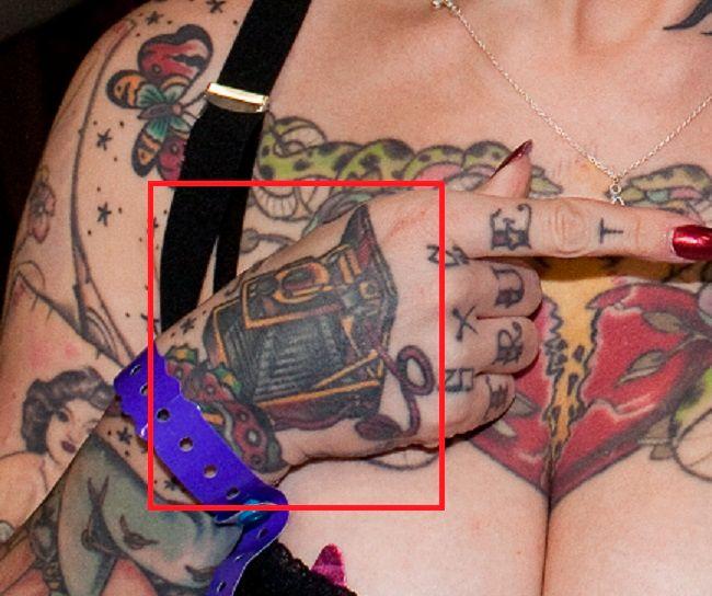 jessie lee hand tattoo