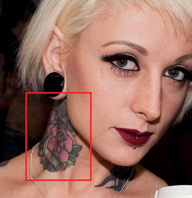 jessie lee-neck-tattoo