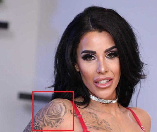 Alice Judge Shoulder Rose Tattoo