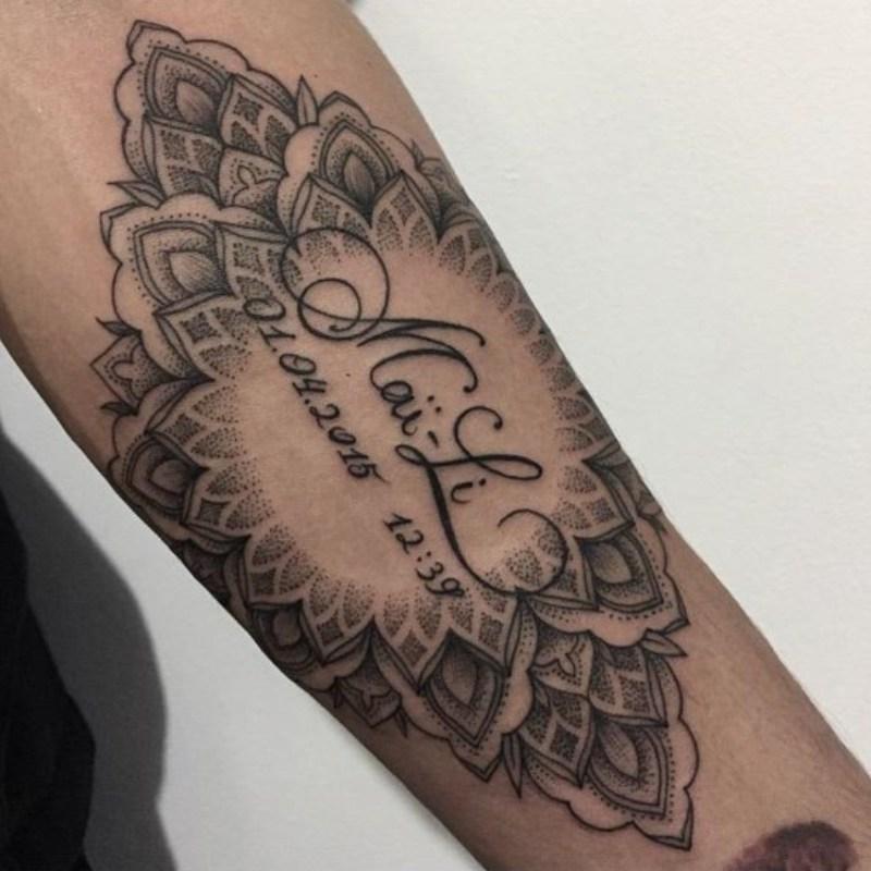 Axel left forearm tattoo