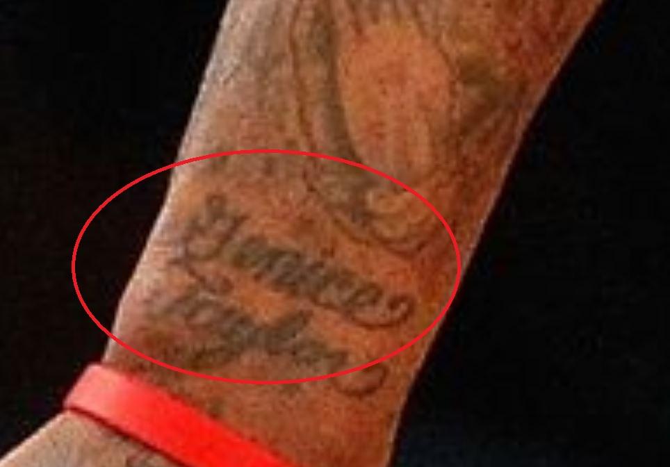 DeShawn name tattoo