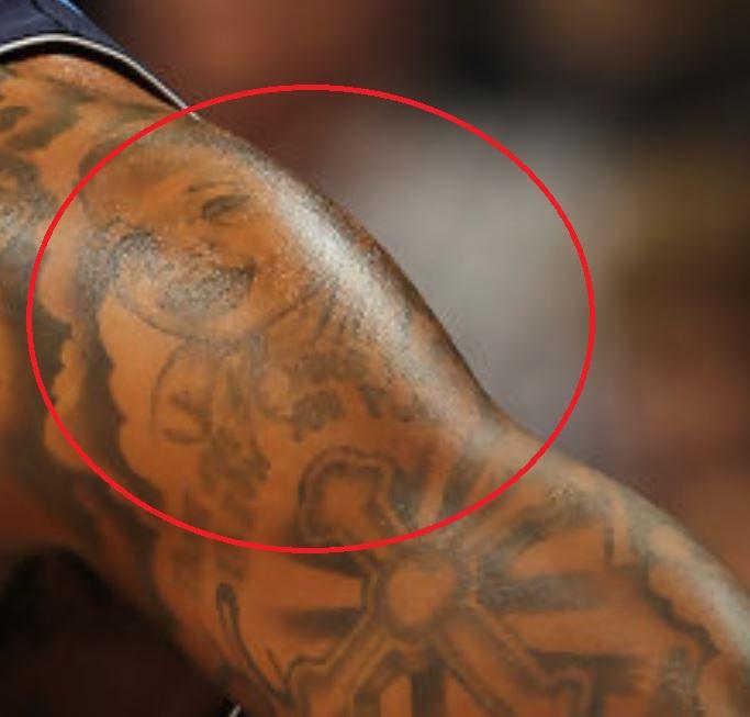 DeShawn portrait on shoulder tattoo