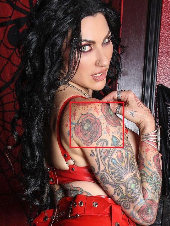 Jenevieve Hexxx-Shoulder Tattoo