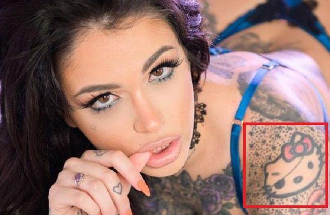 Leigh Raven-Hdello Kitty-Tattoo