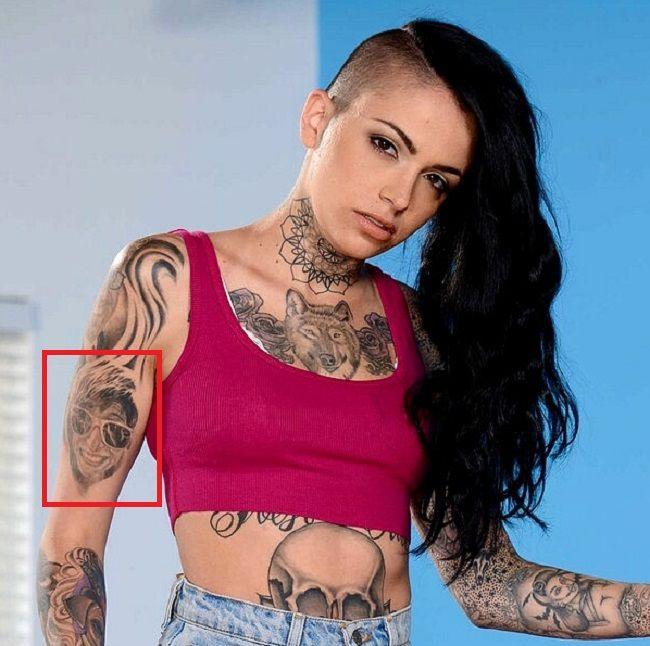 Leigh Raven Right Arm Tattoo Tat