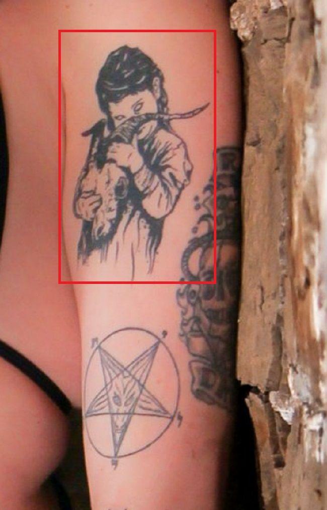 Ophelia Rain Left Arm Tattoo