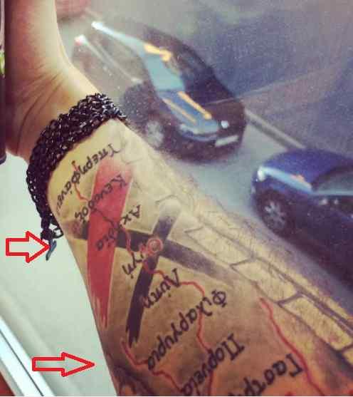 Roman Troev words tattoo
