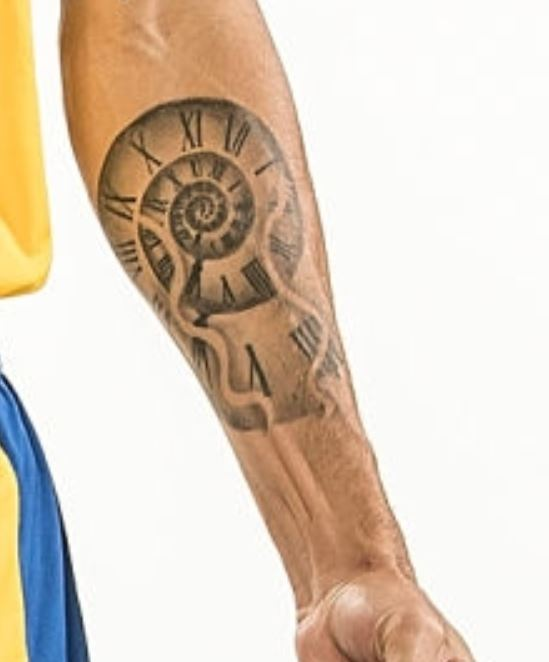 Scottie clock tattoo