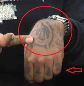 Ty Dolla Sign hand tattoo