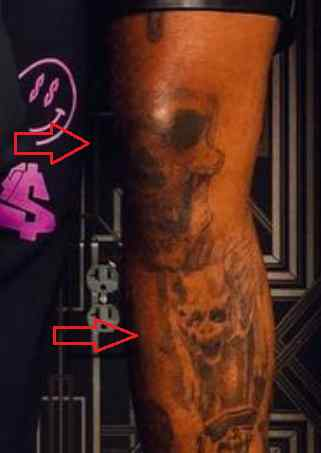 Ty Dolla Sign skull tattoo