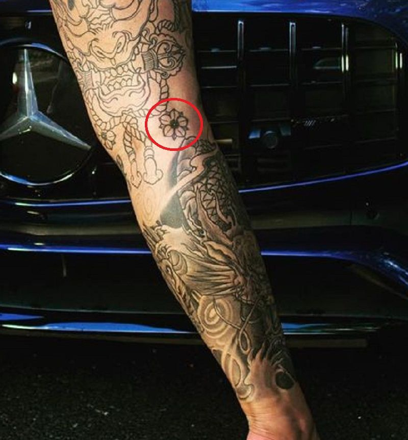flower tattoo of renee gracie
