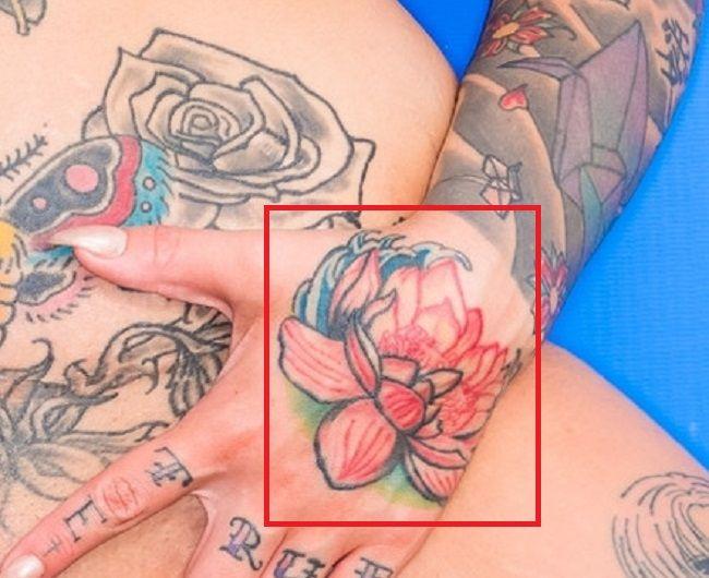 left hand tattooof sydnee vicious