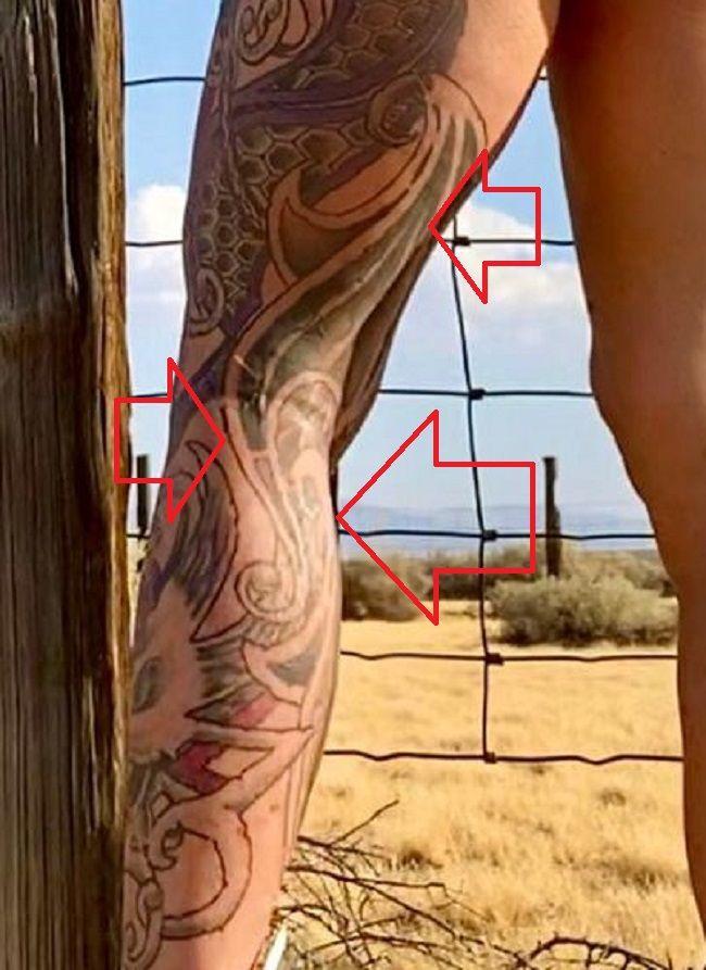 left leg tat of hexxx
