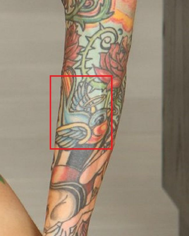 right arm of sarah jessie