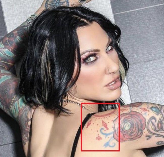 shoulder jenevieve hexx tattoo