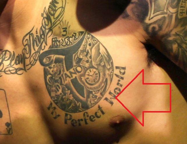 Aaron My perfect World tattoo