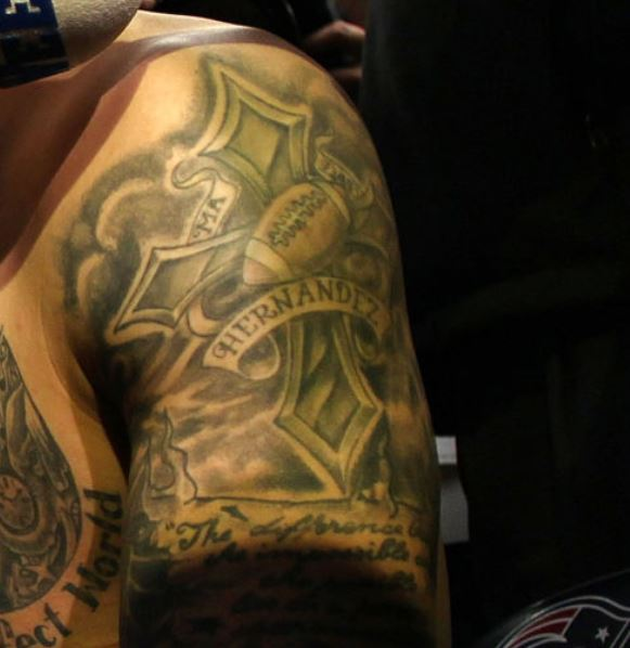 Aaron bicep tattoo