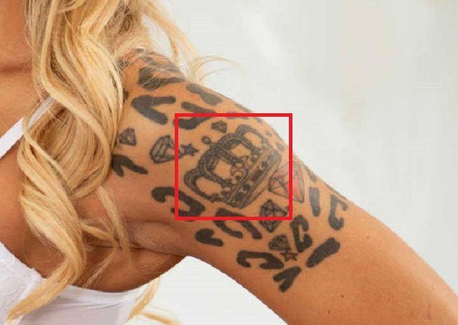 Alison Avery-crown tattoo