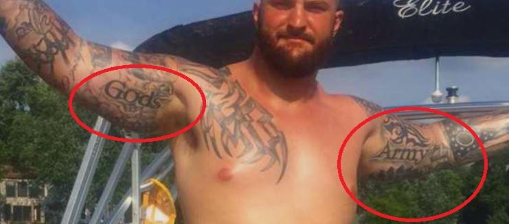 Brian Gods Army Tattoo