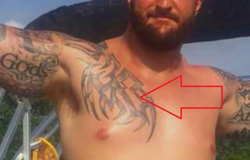 Brian chest tattoo