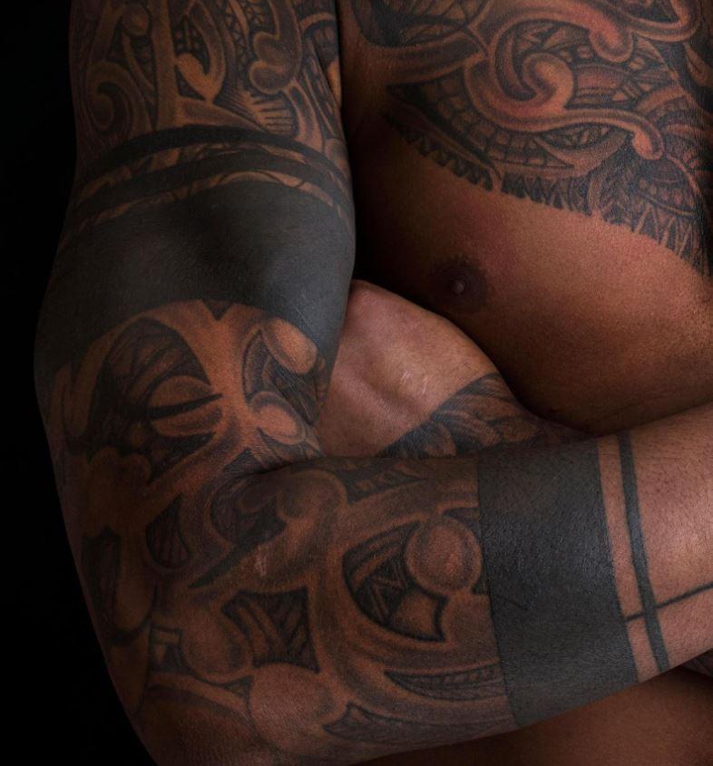 Courtney right arm maori design