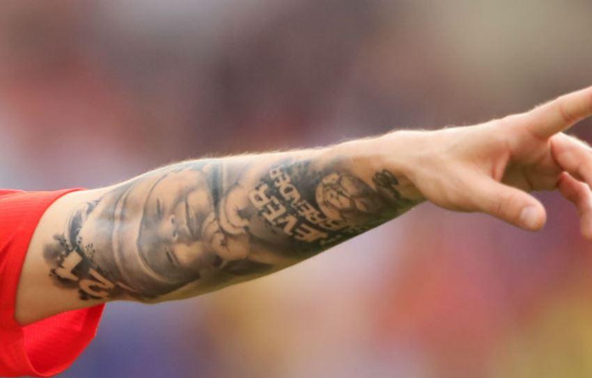 David Silva arm tattoo