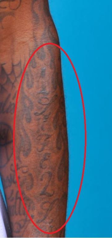 Dorell arm tattoo