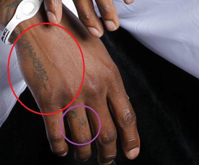 Dorell hand tattoo
