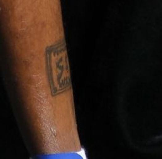 Dorell leg tattoo