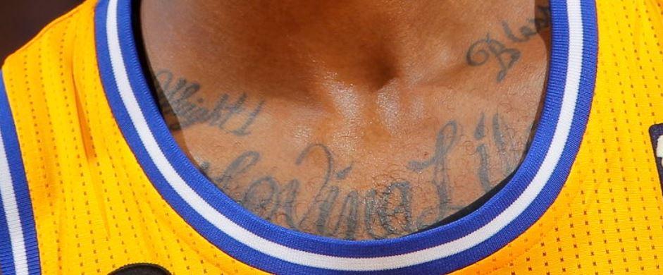 Dorell neck tattoo