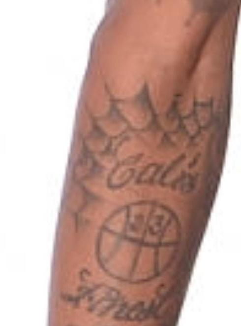 Dorell spider web tattoo