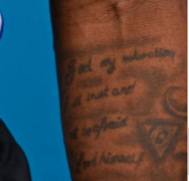 James writing tattoo