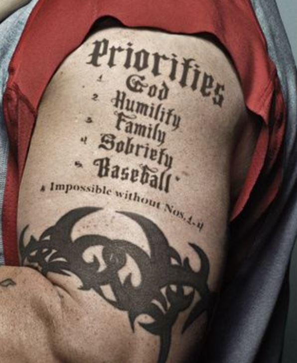 Josh bicep tattoo