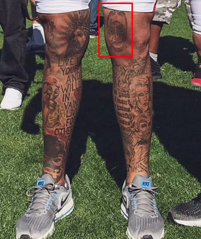 Mike Pouncey-Left-Tattoo-Leg