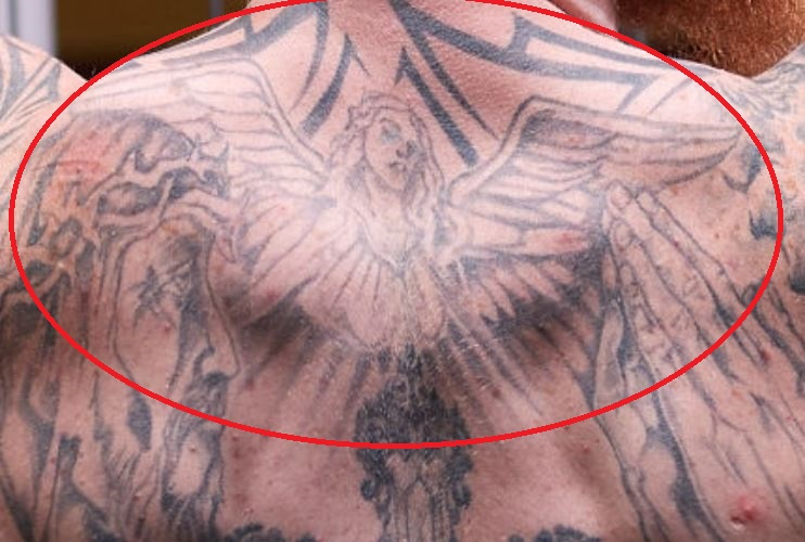 Robert angel with wings tattoo